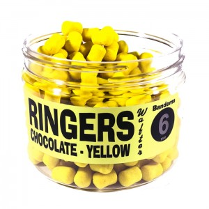 Dumbells Chocolate Yellow Wafters 6mm RINGERS