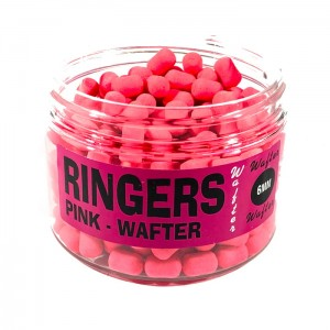 Dumbells Chocolate Pink Wafters 6mm Ringers