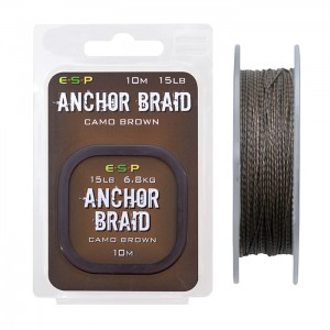 Plecionka Anchor Braid 10m - 20lb Camo Brown  ESP